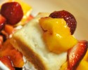 Strawberry and Peach Shortcake
