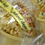 Cake Batter Rice Crispies Surprise Cones