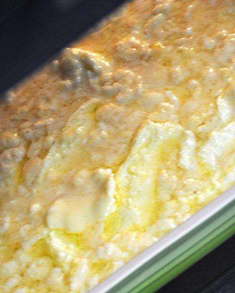 continue scraping and stirring scramble egg bake