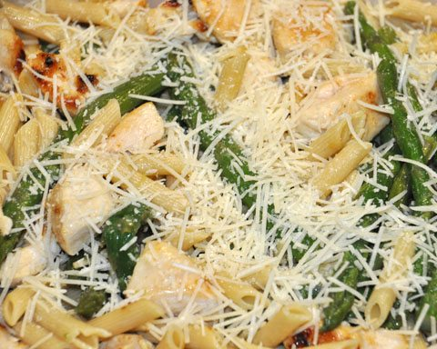 chicken penne asparagus parmesan