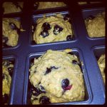 Mini Whole Grain Blueberry Coffee Cakes