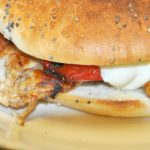 Chicken Red Pepper Bagels