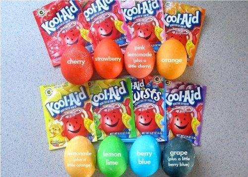 KoolAid Eggs coloring eaaster trick