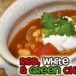Red, White & Green Chili