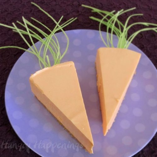 Cheesecake Carrots for Easter dinner, Easter dessert, cake, carrot shaped edible craft