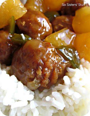 Slow Cooker Hawaiian Meatballs