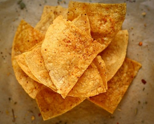 ... easy-like 15 minutes easy- Homemade Tortilla Chips from Lauren at The