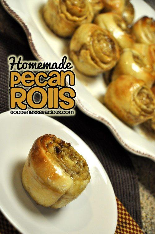 Homemade Pecan Rolls