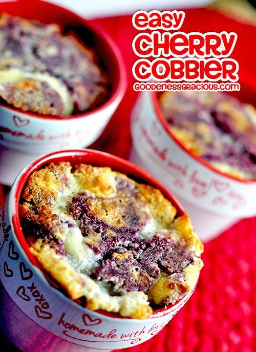Easy Cherry Cobbler