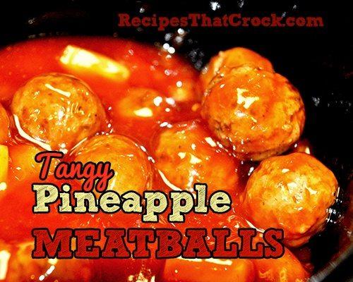 Tangy Pineapple Meatballs