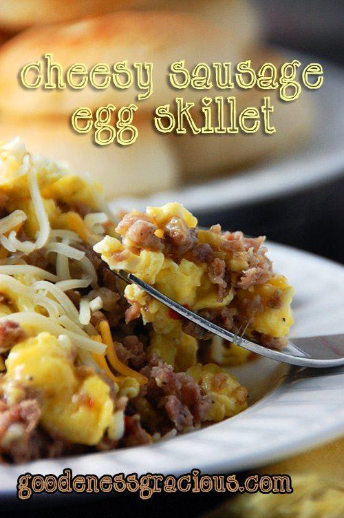 Cheesy Sausage Egg Skillet