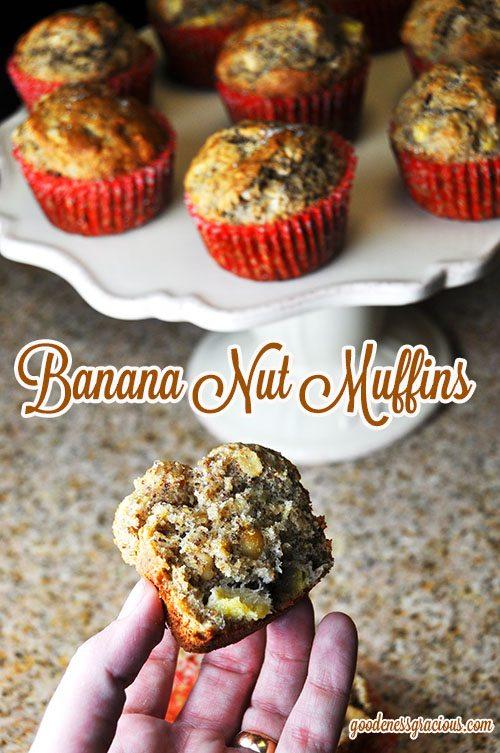 Banana Muffins flax seed