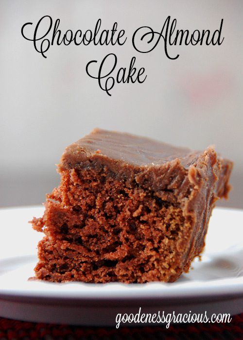 Chocolate Almond Cake - GOODEness Gracious