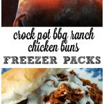 Crock Pot Freezer Packs: BBQ Ranch Chicken Buns