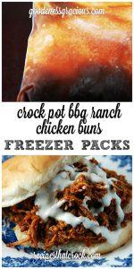Crock Pot Freezer Packs: BBQ Ranch Chicken Buns