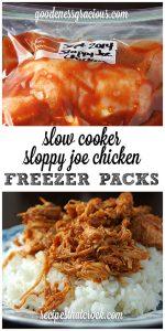 Crock Pot Freezer Packs: Sloppy Joe Chicken