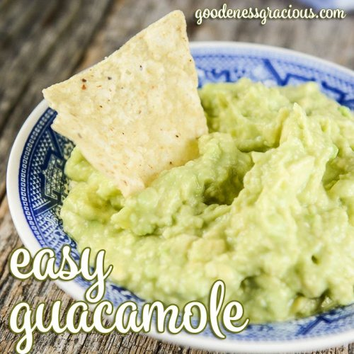 Easy Guacamole Recipe that is simple enough to throw together for a couple people yet can be easily doubled and tripled for a crowd.