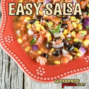 Are you looking for a delicious side to serve up with your favorite Mexican inspired dishes? This Easy Salsa Recipe is a flavorful homemade alternative to the jar!